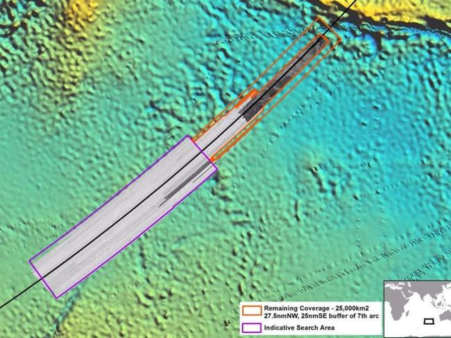 A new 25,000sqkm area north of the designated search area on the 'seventh arc' has been identified as likely to contain MH370 but will not be explored in the absence of 'credible evidence'.
