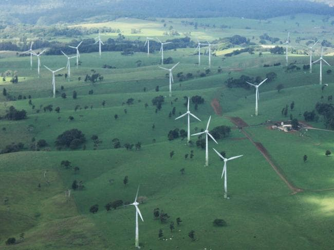Wind turbines outside Ravenshoe, Queensland. Picture: Ros Walker photo