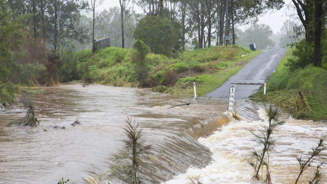 Causeway at Mary Creek road, west of Gympie, where Neil Andrews was found dead in his car. Picture: Lachie Millard