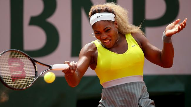 Serena Williams in action at the French Open last month.