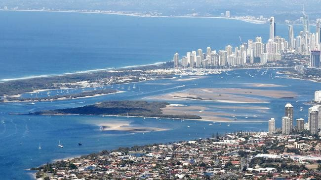 The Gold Coast is under threat from the sea and, potentially, deadly jellyfish. Picture: Richard Gosling