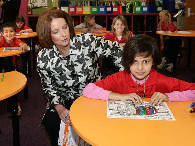 Former Prime Minister Julia Gillard introduced the NAPLAN tests in 2008, when she was deputy PM and education minister.