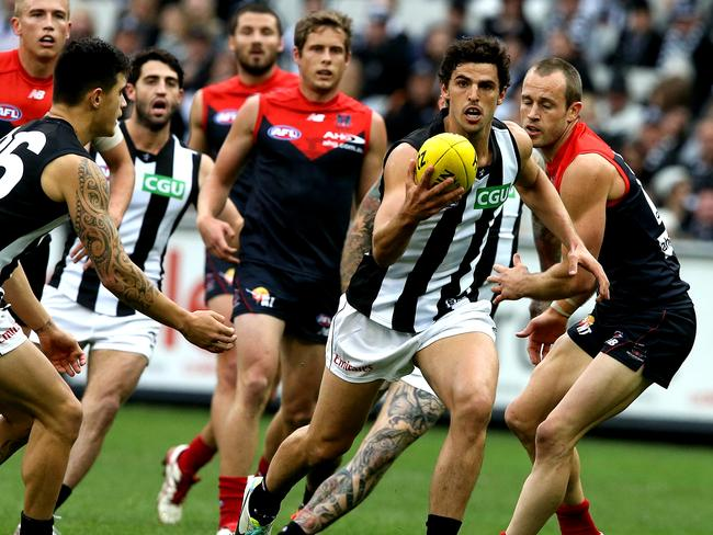 Collingwood's Scott Pendlebury showed some class in a dull contest. Picture: Wayne Ludbey