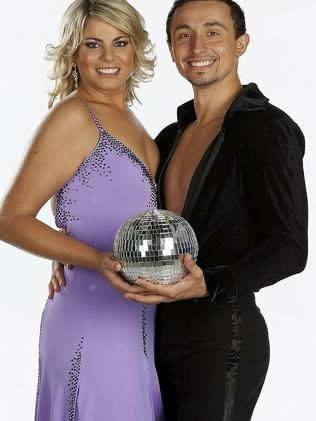 Fiona Falkiner with her Dancing with the Stars partner Sergei Bolgarskiy.