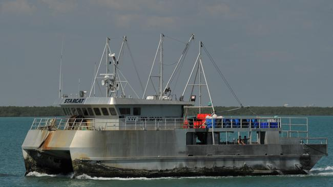 "A fisherman died on the ""Starcat"" in the Northern Territory."