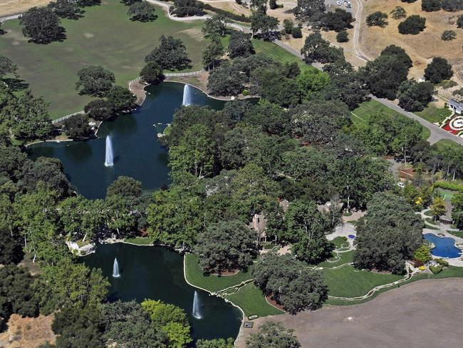 Fairy-tale ... Michael Jackson's former residence Neverland Ranch in Santa Barbara County, California.
