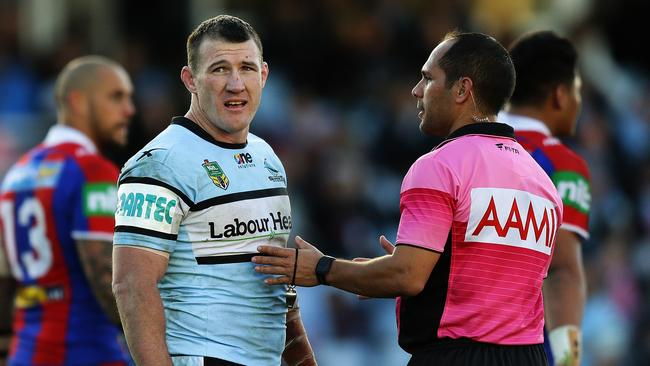 Paul Gallen will miss at least two weeks. Picture: Brett Costello