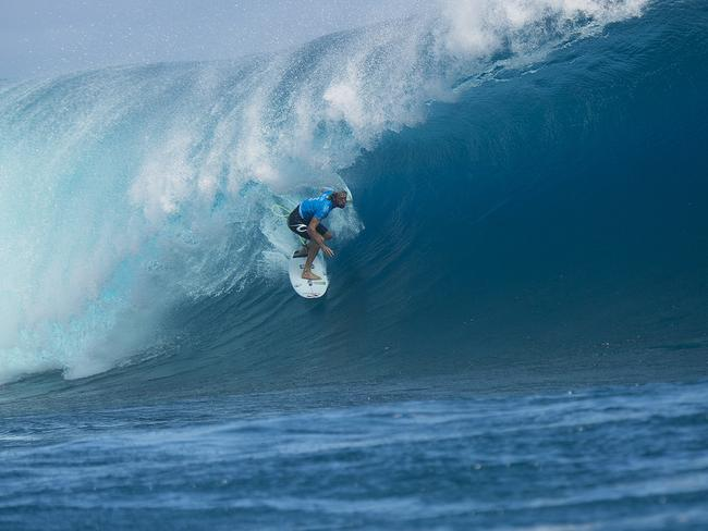 Owen Wright winning at the Fiji Pro in 2015.