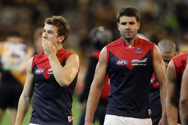 Melbourne co captain Jack Trengove after the Richmond vs Melbourne match at the MCG. Sunday May 19, 2013. Picture: Klein Michael