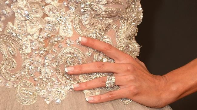 TV personality Giuliana Rancic shows off some serious bling. Picture: Getty