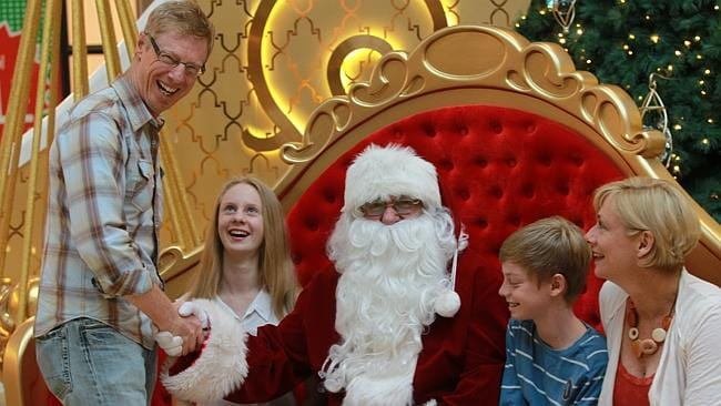 There's always time during the shopping trip to pay a quick visit to Santa.