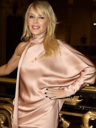 Kylie Minogue at the Ralph & Russo show in Paris. Picture: Getty