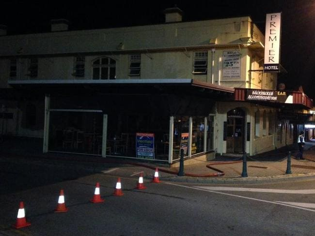 The police arson squad investigated the fire that gutted the Premier Hotel in Albany. Picture: ABC/Twitter