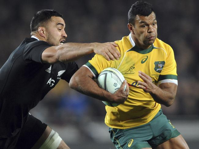 Kurtley Beale had an unhappy night in the Bledisloe Test in Auckland.