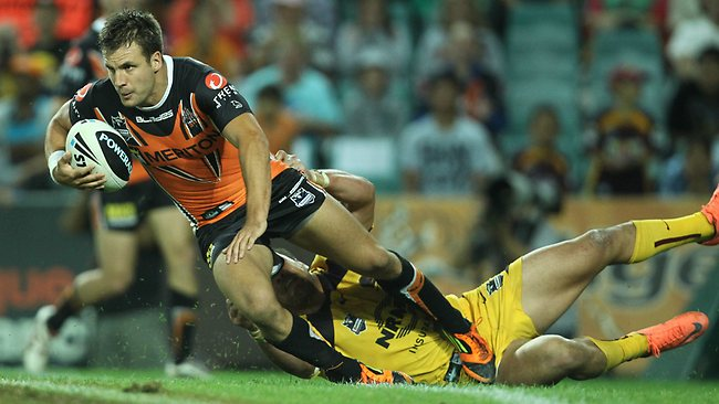 Beau Ryan in action for the Tigers. Picture: Mark Evans