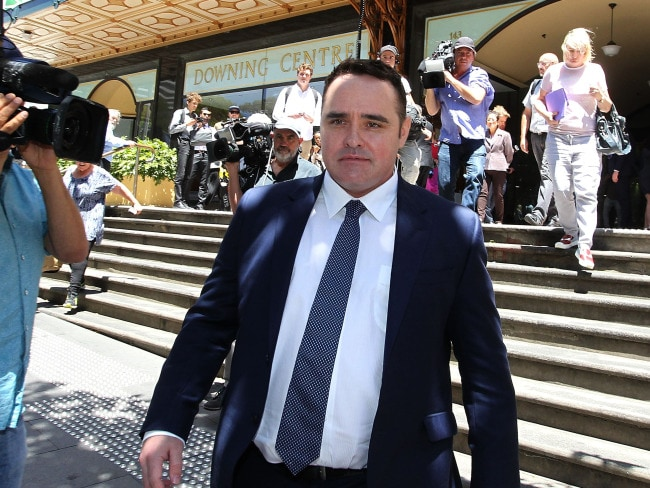 Former Nine Network journalist Ben McCormack leaves the Downing Centre District Court in Sydney. Photo: AAP / Joel Carrett