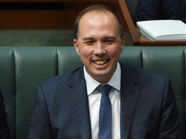 Sorry for his SMS ... Minister for Immigration Peter Dutton. Picture: AAP