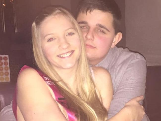 Prosecutors allege Shana Grice, 19, (pictured with longtime beau Ash Cooke) was murdered by her jealous ex, Michael Lane, 27, after months of stalking. Picture: Facebook