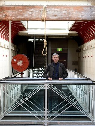 Ross Daniels runs ghost tours inside Pentridge Prison. Picture: Angie Basdekis