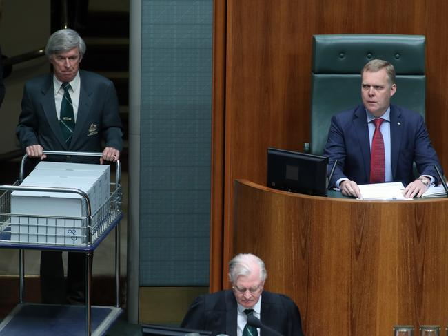 Documents relating to the conduct of the late High Court judge Lionel Murphy were tabled in the House of Representatives today. Picture: Gary Ramage