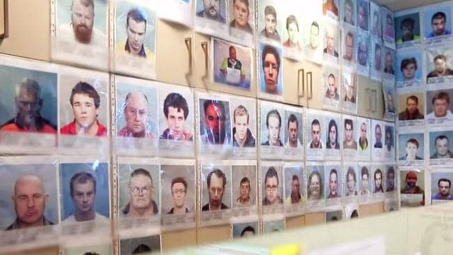 Police have a 'wall of shame' where they pin pictures of paedophiles, and they're adding to it at a higher rate than ever before. Picture: Channel 7