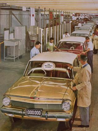 Happier times ... the 1 millionth Holden EJ sedan from 1962.