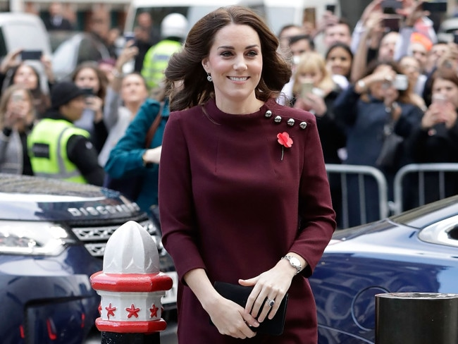 Britain's Catherine, Duchess of Cambridge and patron of national children's mental health charity Place2Be. Photo: AFP / John Phillips