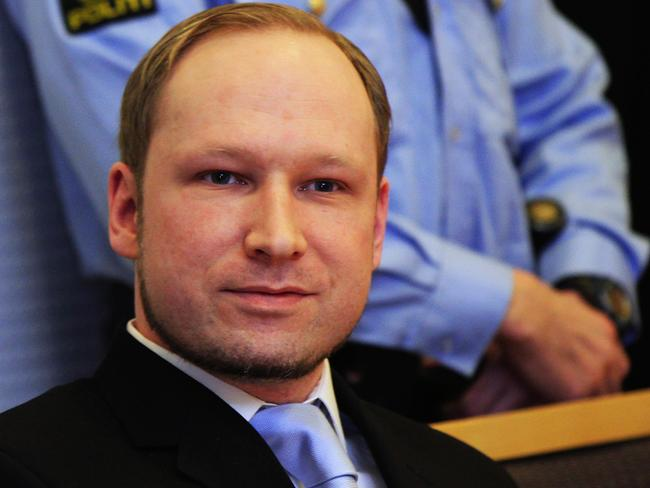 Pacifist ... Anders Behring Breivik, a right-wing extremist who confessed to a bombing and mass shooting that killed 77 people on July 22, 2011, says he now denounces violence.