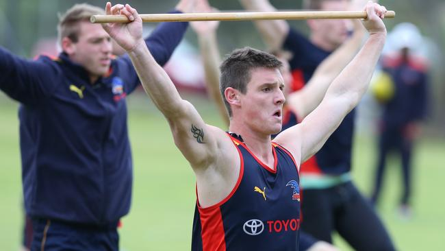 Luke Thompson looks solid in the Adelaide backline. Picture: Sarah Reed.