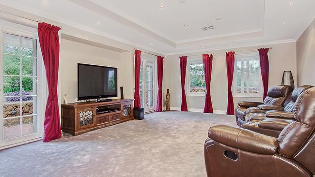 The lounge is set up for television viewing. Picture: Supplied