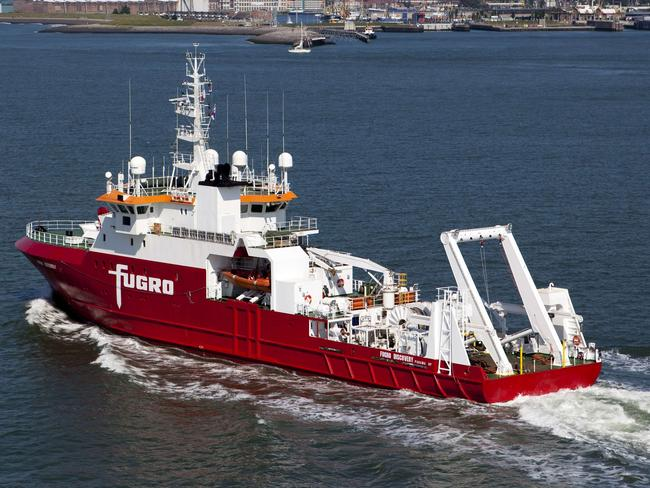 Ready to go ... the Australian-contracted survey ship M/V Fugro Discovery, which along with the Malaysian-contracted GO Phoenix, will soon start a new search for flight MH370. Picture: AFP