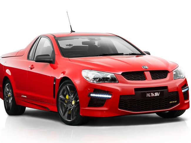 In demand ... An artist's impression of 2014 HSV GTS Maloo special edition ute.