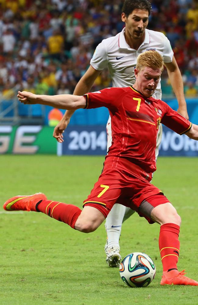 Kevin De Bruyne has scored for Belgium.