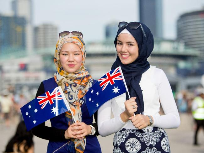 Another photo of Australians celebrating their country, at last year's Australia Day Festival in Melbourne.