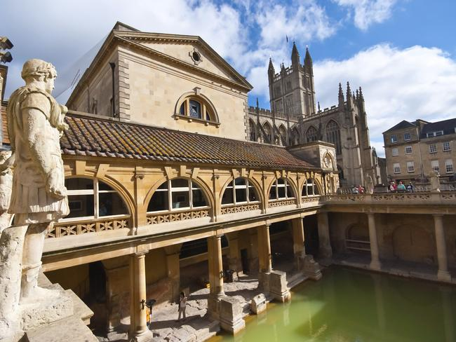 The Roman Baths, dating back to AD43, are the main attraction at Bath.