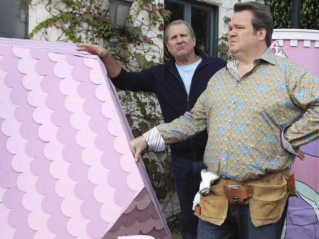 Still great comedy ... Ed O'Neill as Jay Pritchett and Eric Stonestreet as his son Cameron in Modern Family.
