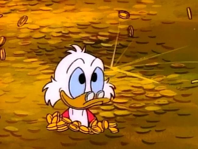 Now, now, Scrooge McDuck isn't exactly a role model. Pic: YouTube.