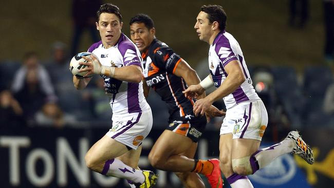 Cronk was instrumental in the Storm's defeat of Wests Tigers.