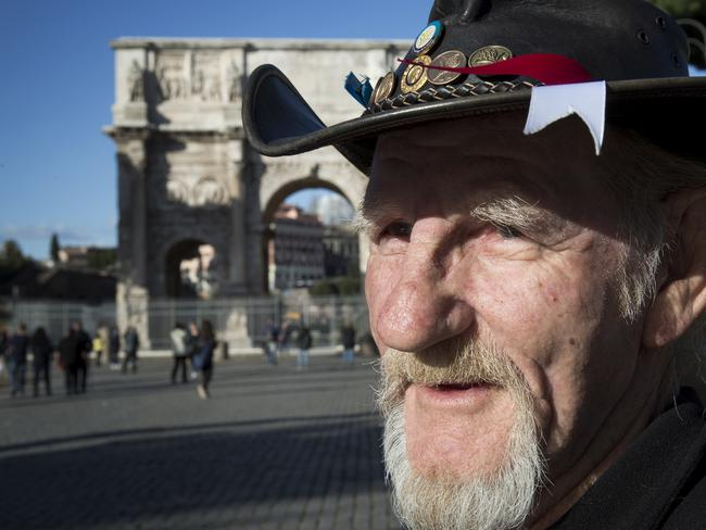 Gordon Hill shares his story of survival in Rome. Picture: Ella Pellegrini