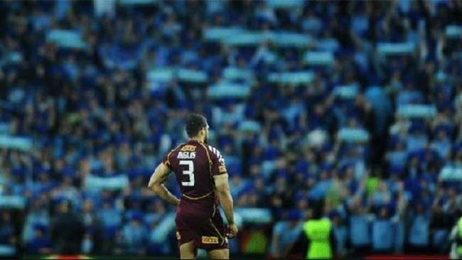 Inglis in a sea of blue