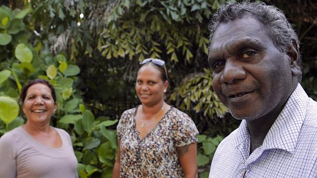 NT backbenchers Alison Anderson (centre), Larisa Lee (left) and Francis Xavier Kurrupuwu, have resigned from the Country Liberals. Picture: Aikman Amos