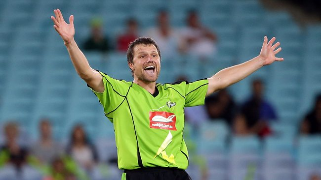 Sydney Thunder paceman Dirk Nannes wants another crack at international cricket. Picture: Gregg Porteous