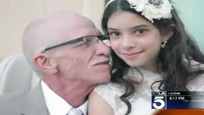 Daddy and daughter ... Jim Zetz with his beautiful daughter Josie after the mock wedding ceremony.