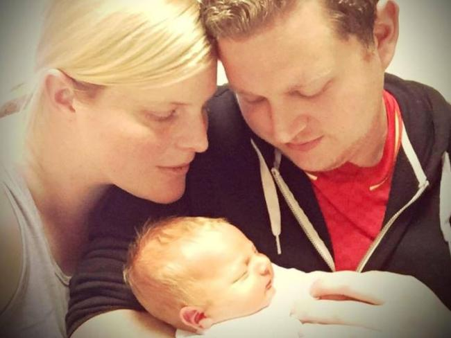 Ben Ihlow with his wife Samantha and son Andrew. Picture: Youcaring.com