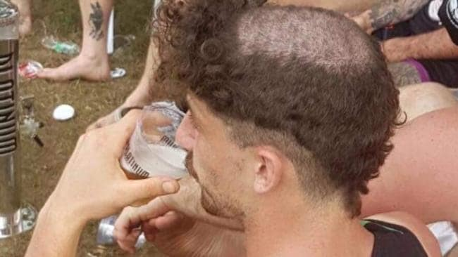 Tom Liberatore got a haircut on the sidelines of the AFL Asian championships.