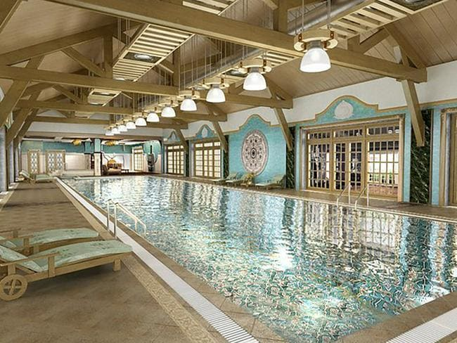 Is it even worth having a swimming pool if it doesn't have gold-plated tiles? Picture: East2West News