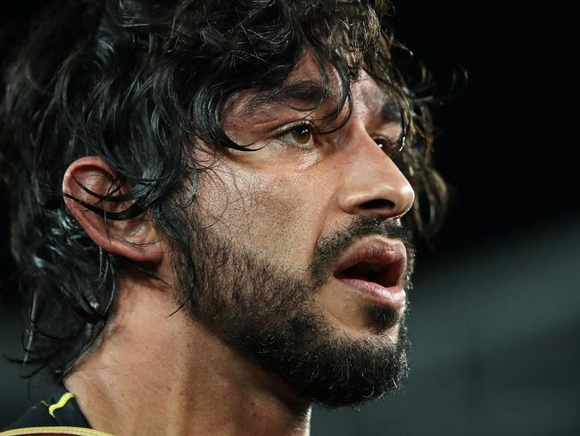 SYDNEY, AUSTRALIA - JUNE 21:  Johnathan Thurston of the Maroons looks on after victory during game two of the State Of Origin series between the New South Wales Blues and the Queensland Maroons at ANZ Stadium on June 21, 2017 in Sydney, Australia.  (Photo by Mark Kolbe/Getty Images)