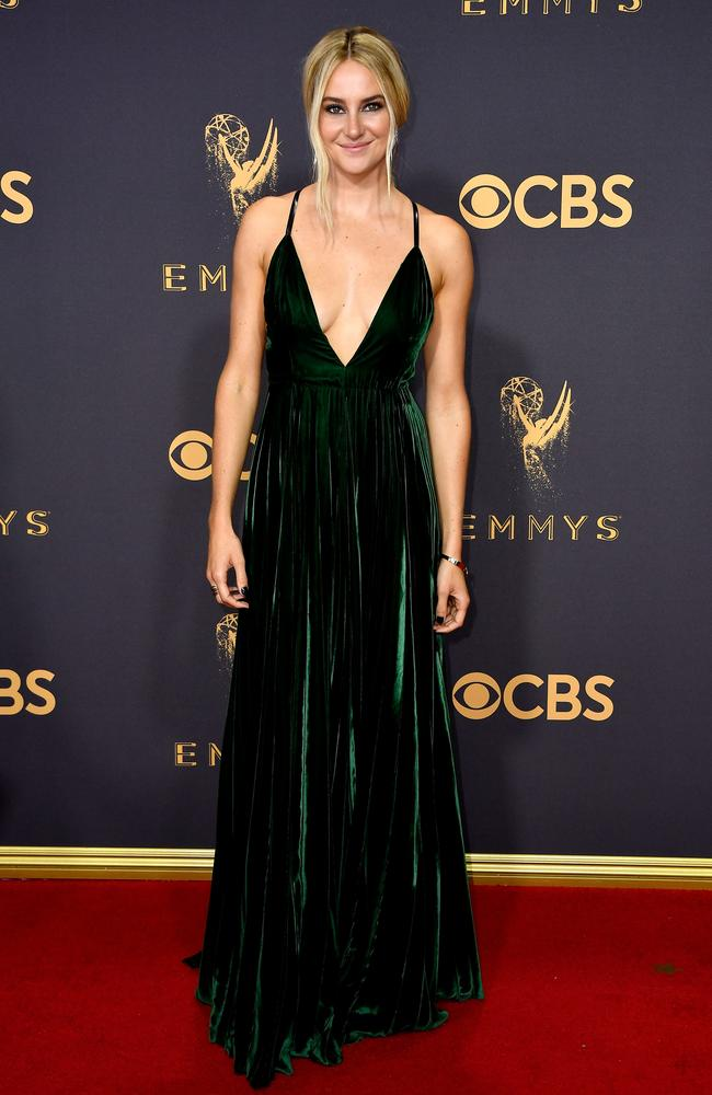Shailene Woodley attends the 69th Annual Primetime Emmy Awards at Microsoft Theater on September 17, 2017 in Los Angeles. Picture: Getty