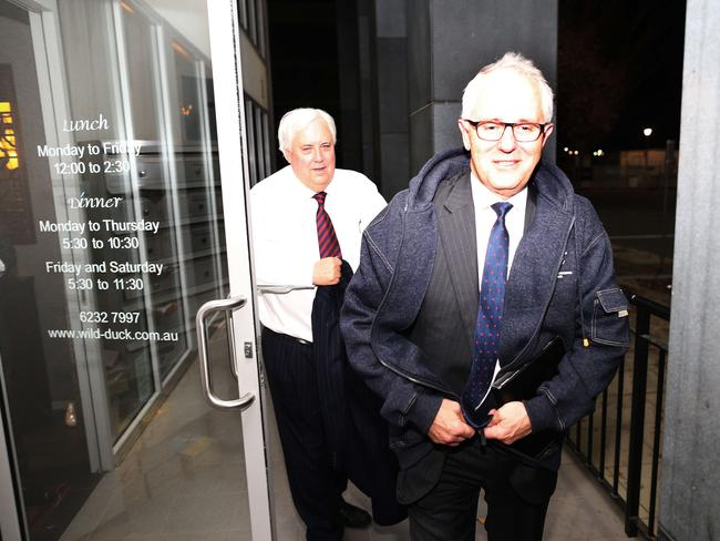 Sprung … Clive Palmer had a secret dinner with Malcolm Turnbull in a Canberra restaurant last week. Picture: Gary Ramage