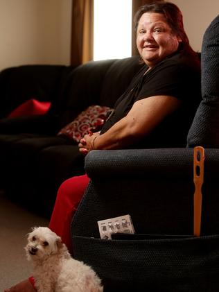 Marjorie Tripp — with her dog Lily at her St Agnes home. Picture: Calum Robertson